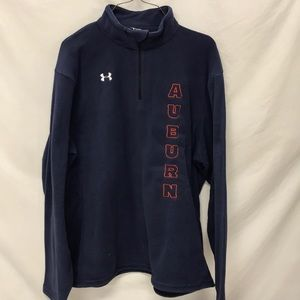 AUBURN 1/4 ZIP UNDER ARMOUR FLEECE JACKET